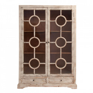 Vitrina maro/transparenta din lemn si sticla 185 cm Lavik Vical Home