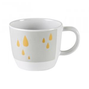 Cana gri/galben din melamina 220 ml Contour Grey Yellow Done by Deer