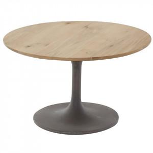 Masuta neagra/maro pentru cafea din lemn si beton 76 cm Iris Zago