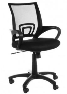 Scaun ajustabil negru din textil pentru birou Simon Black Unimasa