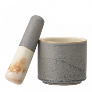 Mojar cu pistil gri din ceramica Kendra Bloomingville