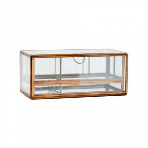 Cutie pentru bijuterii din fier si sticla Cosim Brass Madam Stoltz