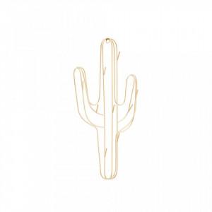 Suport bijuterii din fier pentru perete 40 cm Cactus Ale Gold Madam Stoltz