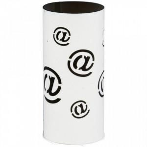 Decoratiune luminoasa alba/neagra din metal si plastic Mail Lamp Aldex