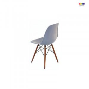 Scaun dining gri din lemn si polipropilena Manila Grey Malo Design