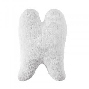 Perna decorativa alba din bumbac pentru copii 30x50 cm Wings White Lorena Canals