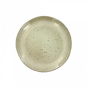 Farfurie intinsa bej din ceramica 28 cm Enzo Sand LifeStyle Home Collection