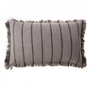 Perna decorativa dreptunghiulara gri din lana 30x50 cm Felt Zago
