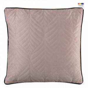 Perna decorativa patrata roz din catifea 45x45 cm Crystal Rose Zago