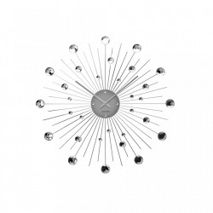 Ceas perete rotund din metal 50 cm Sunburst Present Time