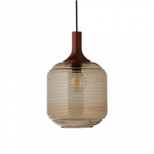 Lustra maro din sticla si lemn Honey Frandsen Lighting