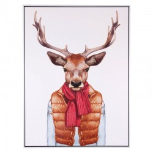 Tablou multicolor din MDF si polistiren 60x80 cm Deer Vest Somcasa
