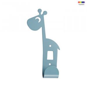 Cuier albastru din metal Giraffe Done by Deer