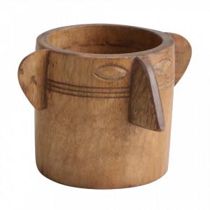 Suport pentru ustensile bucatarie maro din lemn Face Raw Materials