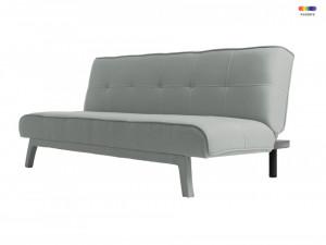 Canapea extensibila gri din poliester si lemn pentru 2 persoane Modes Platinium Custom Form