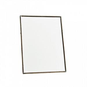 Oglinda dreptunghiulara de masa maro alama din fier 15x20 cm Davis Avi Madam Stoltz