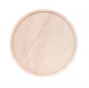 Platou decorativ roz din marmura Estremoz Pink Round Versmissen