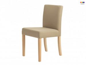 Scaun dining crem din lemn si poliester Wilton Custom Form