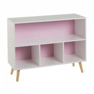 Etajera roz/alba din MDF 58 cm Matt Unimasa