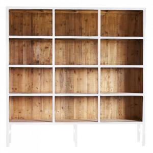 Biblioteca alba/maro din lemn 230 cm Bellport Large LifeStyle Home Collection