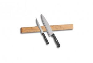 Suport magnetic maro din lemn pentru cutite Bamboo Strip Long Zeller