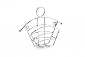 Suport de bucatarie argintiu din metal pentru filtrele de cafea Filter Bag Zeller