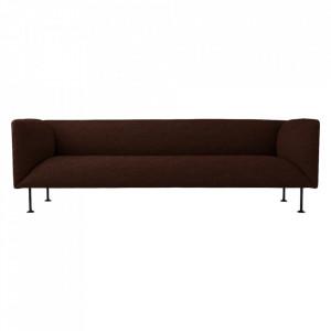 Canapea din textil si otel pentru 3 persoane Godot Colline Menu