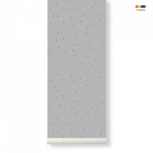 Rola tapet gri din hartie 53x1000 cm Dot Grey Ferm Living