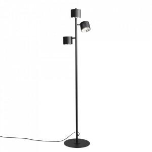 Lampadar negru din metal cu 3 becuri 165 cm Bot Floor Aldex