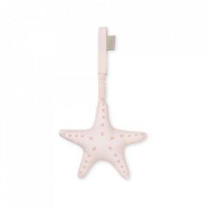 Decoratiune suspendabila din bumbac organic Starfish Soft Pink Cam Cam