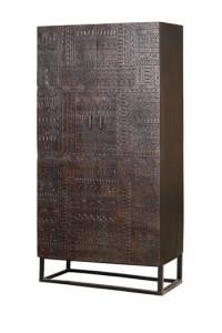 Dulap maro din lemn de mango si fier 180 cm Hieroglyph Giner y Colomer