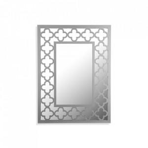 Oglinda dreptunghiulara gri din lemn si MDF pentru perete 59x79 cm Silke Mirror Versa Home
