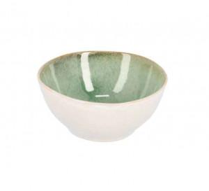 Bol alb/verde din ceramica 17 cm Zain La Forma