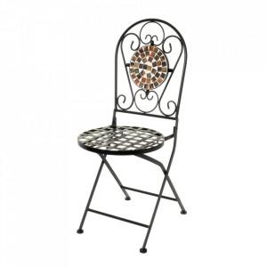 Scaun pliabil multicolor din metal si ceramica pentru exterior Terra Chair Unimasa