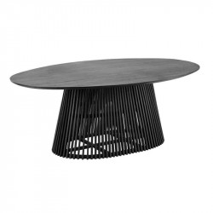 Masa dining neagra din lemn mindi 120x200 cm Irune La Forma