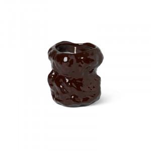Lumanare parfumata maro din ceramica si ceara 9 cm Tuck Ferm Living