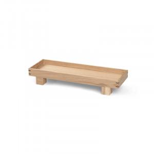 Tava dreptunghiulara maro din lemn 12x36 cm Bon Ferm Living