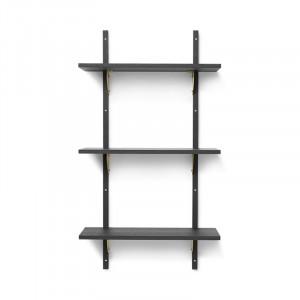 Etajera neagra/maro alama din placaj pentru perete 102 cm Sector Bitt Ferm Living