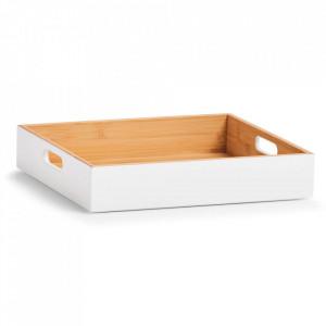 Cutie alba/maro din lemn Kim Zeller