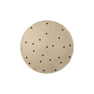 Covor rotund din iuta 100 cm Black Dots Ferm Living
