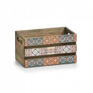 Cutie multicolora din lemn si placaj Mosaic Zeller