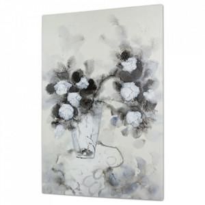 Tablou multicolor din lemn de pin 60x90 cm Flowers Vase Santiago Pons