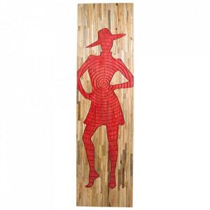 Decoratiune de perete din lemn de mango 51x183 cm Silhouette Santiago Pons