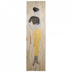 Decoratiune de perete din lemn de mango 51x83 cm She Santiago Pons