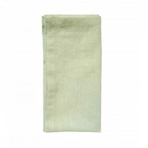 Prosop verde din bumbac si in pentru bucatarie 40x40 cm Napkin Hemmed Nordal