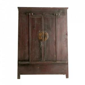 Dulap maro din lemn 190 cm Vinh Vical Home