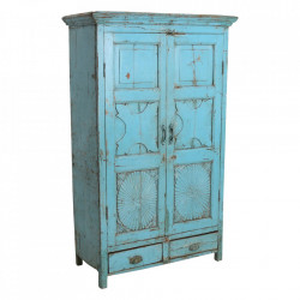 Dulap albastru din lemn 169 cm Kopio Raw Materials