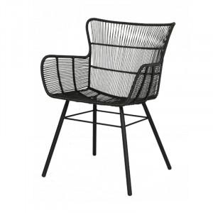 Scaun lounge gri din aluminiu si rasina pentru exterior Palm Florida Lifestyle Home Collection