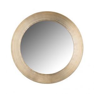 Oglinda rotunda maro alama din aluminiu si MDF pentru perete 54 cm Morse Richmond Interiors