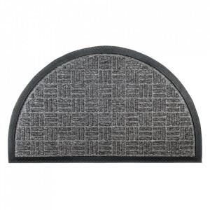 Pres oval gri antracit din polipropilena pentru intrare 45x75 cm Country Lako